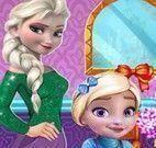Elsa cuidar da menina