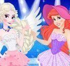 Ariel e Elsa modelos