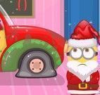 Consertar e lavar carro do Minion natal