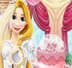 Decorar bolo do casamento da Rapunzel