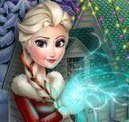 Elsa achar objetos de natal