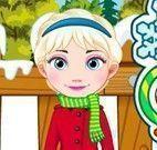 Elsa bebê decorar natal