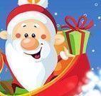 Papai Noel entregar presentes