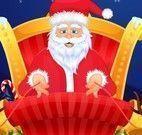 Papai Noel no salão de beleza