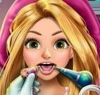 Princesa Rapunzel no dentista