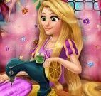 Rapunzel costurar vestido