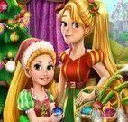 Rapunzel mãe e filha decorar árvore de natal