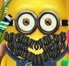 Minion fazer barba no salão