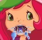 Moranguinho médico da garganta