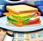 Preparar sanduíche com salada