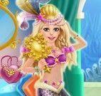 Maquiagem e roupas da sereia no carnaval