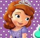 Princesa Sofia preparar cookies