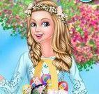 Barbie vestir roupas da Páscoa