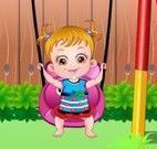 Bebê Hazel no parquinho