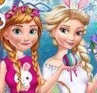 Elsa e Anna roupas da páscoa