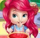 Receita de torta da bebê Ariel