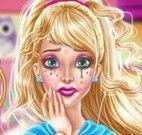 Barbie limpar maquiagem