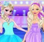 Elsa e Barbie modelos