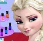 Elsa pintar unhas fashion