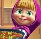 Masha preparar pizza