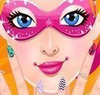 Super Barbie pintar unhas