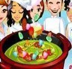 Chefes de cozinha fazer sopa