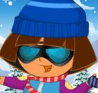 Dora roupas de esquiar