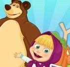 Masha e Bear guerra de tinta