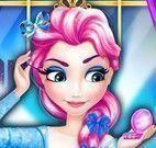 Princesa Elsa limpeza facial
