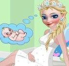Vestir e maquiar Elsa grávida