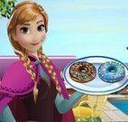Anna Frozen fazer donuts