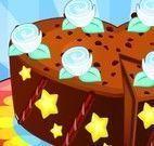 Bolo de chocolate de coração