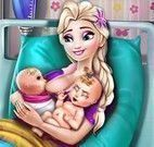 Elsa grávida de  gêmeos