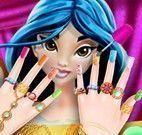 Jasmine pintar unhas