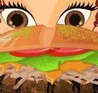 Decorar sanduíche da garota