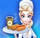 Elsa fazer cachorro quente