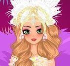 Princesa do carnaval maquiar e vestir