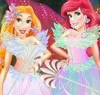 Princesas fadas Ariel e Rapunzel