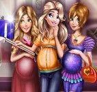 Princesas grávidas selfie