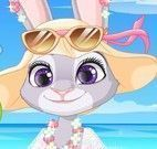 Roupas da Judy na praia