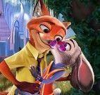 Judy e Nick beijos
