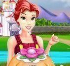 Princesa Bela fazer bolo
