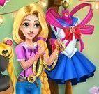 Rapunzel fazer costura de vestido