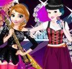 Anna e Branca de Neve cantoras vestir