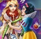 Branca de Neve costurar vestido da Apple