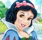 Branca de Neve princesa limpeza de pele