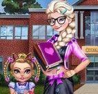 Elsa e irmã roupas da escola