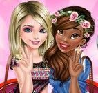 Elsa e Tiana amigas moda