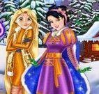 Rapunzel e Branca de Neve roupas da neve