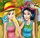 Rapunzel e Branca de Neve roupas de jardim